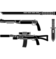 set weapons special forces vector image