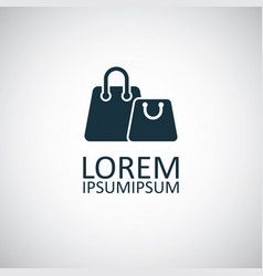 shopping bags icon simple flat element design vector image