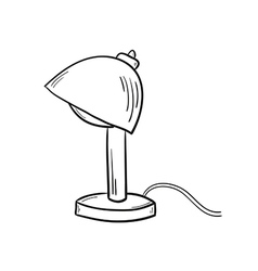 sketch of the lamp vector image