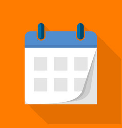 Tear off calendar icon flat style vector