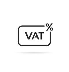 Thin line vat tax percent icon vector