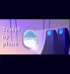 view from the airliner window passenger seats vector image