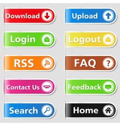 Web tabs vector
