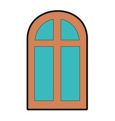 window isolated image vector image