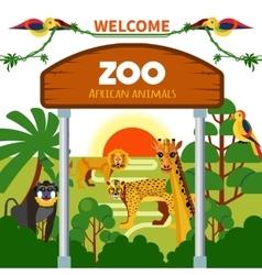 Zoo African Animals vector