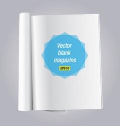 Blank open book vector