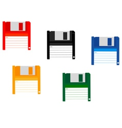 for a computer floppy disk vector image vector image