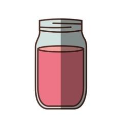 jar jam delicious shadow vector image