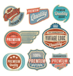 Retro vintage label banner set vector image