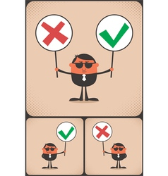 Right and Wrong vector image