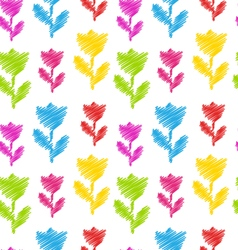 Seamless Flower Texture Natural Pattern for vector image vector image