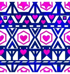 Seamless pattern with hearts EPS10 vector image vector image
