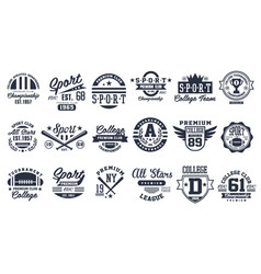 sport club logo design set baseball retro emblem vector image vector image