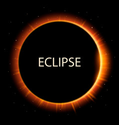 total eclipse of the sun background vector image