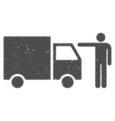 Truck Customer Icon Rubber Stamp vector image