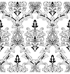 Vintage seamless pattern ivy and fire flower vector image