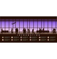 airport lounge vector image