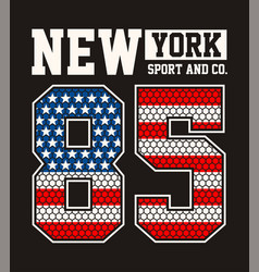 athletic new york sport vector image