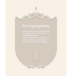 Calligraphic Swirls on Frames for Cards vector image