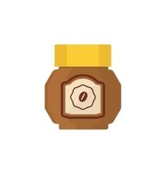 Coffee Jar Simplified vector image vector image