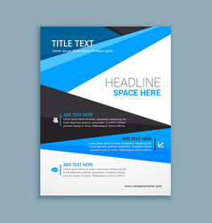 Company business brochure template vector
