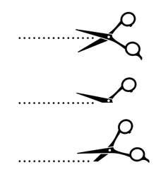 cutting scissors and black points vector image vector image