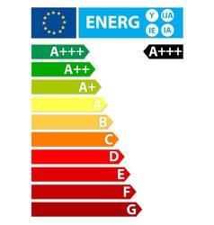 European Union energy New label vector image