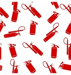 Flat Fire Extinguisher Seamless Pattern Background vector image vector image