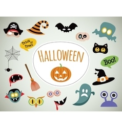 Halloween symbols and icons collection vector image vector image