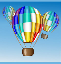 hot air balloon flying in the sky vector image