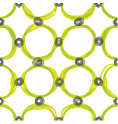 watercolor sloppy circles seamless pattern vector image
