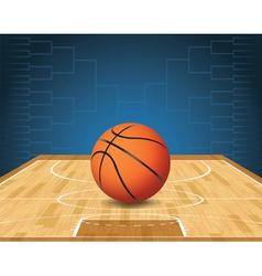 Basketball Bracket Court and Ball vector image vector image