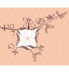 doodle calligraphic frame vector image vector image