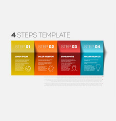 four steps template vector image