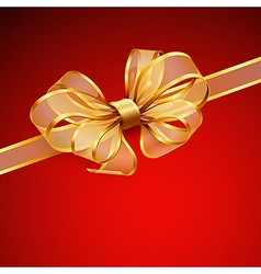 golden bow2 vector image vector image