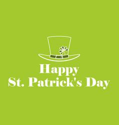 happy st patricks day leprechaun hat with vector image vector image