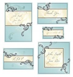 set of rococo wedding designs vector image vector image