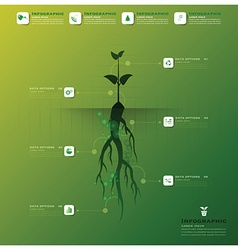 Tree and root infographic design template vector