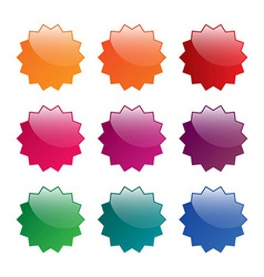 Colorful blank labels vector image vector image