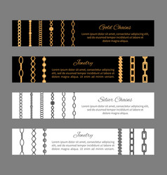 gold silver chains and jewelry vector image vector image