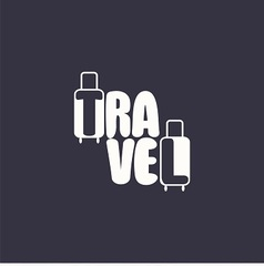 logo with word travel and suitcases vector image