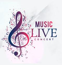 music live concert poster flyer template design vector image vector image