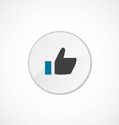 ok icon 2 colored vector image