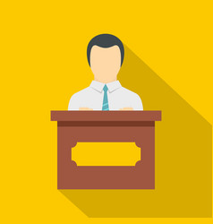 public speaker icon flat style vector image