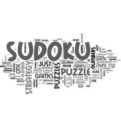 A sudoku strategy or just a puzzle text word vector