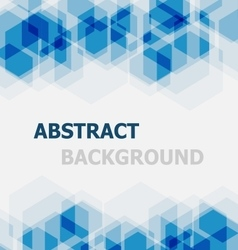 Abstract blue hexagon overlapping background vector