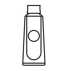 Aloe shampoo icon outline style vector