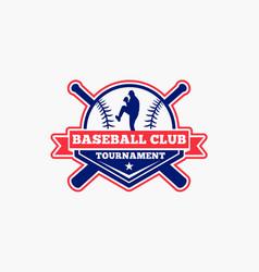baseball logo badge-3 vector image