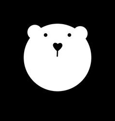 bear animal template vector image