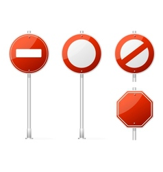 Blank Traffic Sign red vector image